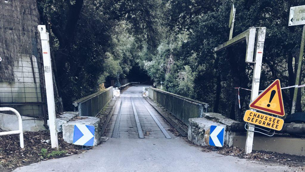 Le pont du chemin du Génie à Nice