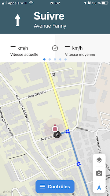 Komoot, application de guidage